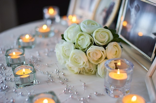 decoration bougie table cadre fleurs agence organisation mariage