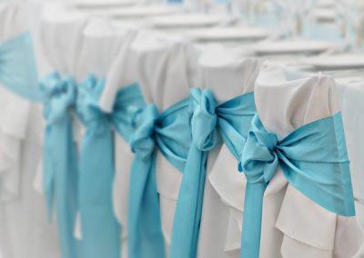 decoration de mariage chaise housse et noeuds paris