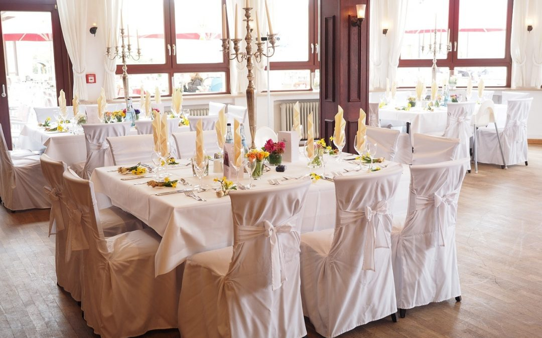 lieu de réception intérieur avec vue mariage